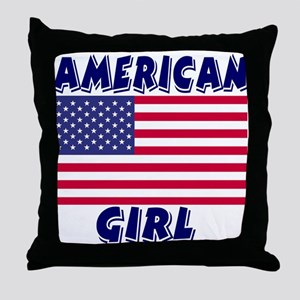 American Girl Throw Pillow