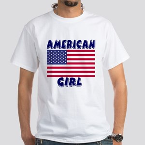 American Girl White T-Shirt