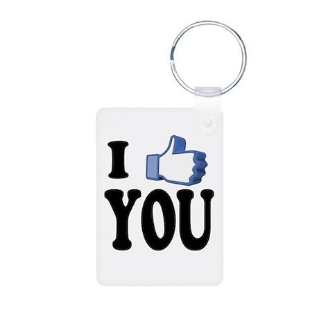 I Like You Aluminum Photo Keychain