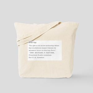 Ironic Statement Tote Bag