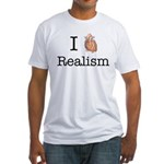 I heart realism Fitted T-Shirt