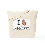 I heart realism Tote Bag