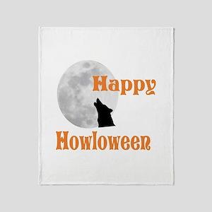Happy Halloween (Howloween) Throw Blanket