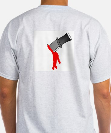 Backstabbed (Knife in Back) Ash Grey T-Shirt