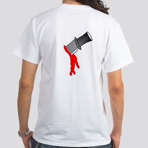 Backstabbed (Knife in Back) White T-Shirt