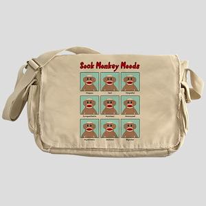 Sock Monkey Moods Messenger Bag