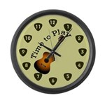 Time to Play Guitar Large Wall Clock