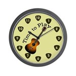 Time to Play Guitar Wall Clock