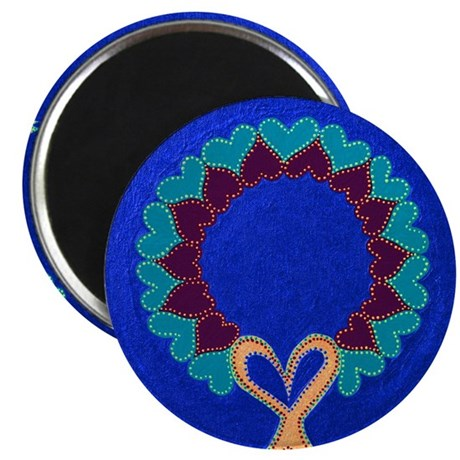 Wreath Hearts Blue Magnet