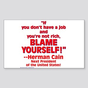 $3.99 Blame Yourself! Sticker (Rectangle)