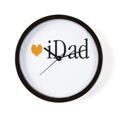 iDad Orange Father & Baby Wall Clock