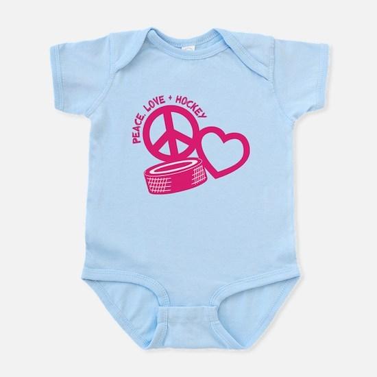Peace, Love & Hockey Infant Bodysuit