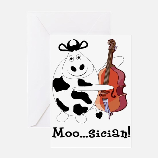 Cow Moo...sician! Greeting Card
