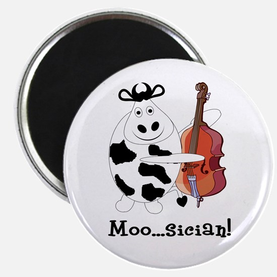 """Cow Moo...sician! 2.25"""" Magnet (10 pack)"""