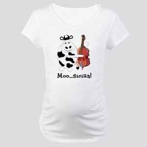 Cow Moo...sician! Maternity T-Shirt