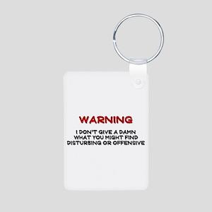 Warning Disturbing Or Offensive Aluminum Photo Key