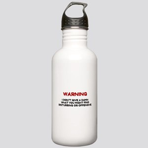 Warning Disturbing Or Offensive Stainless Water Bo