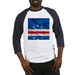 Cape Verde Flag Wave Baseball Jersey