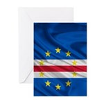 Cape Verde Flag Wave Greeting Cards (Pk of 10)
