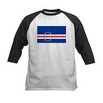 Cape Verde Flag Kids Baseball Jersey