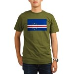 Cape Verde Flag Organic Men's T-Shirt (dark)
