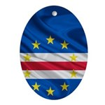 Cape Verde Flag Wave Oval Ornament