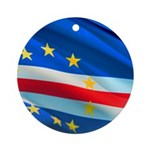 Cape Verde Flag Wave Round Ornament