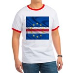 Cape Verde Flag Wave Ringer T
