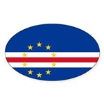 Cape Verde Flag Sticker (Oval 10 pk)