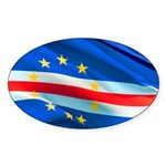 Cape Verde Flag Wave Sticker (Oval)