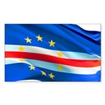 Cape Verde Flag Wave Sticker (Rectangle 10 pk)