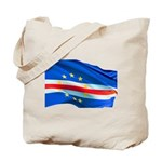 Cape Verde Flag Wave Tote Bag