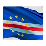 Cape Verde Flag Wave Throw Blanket