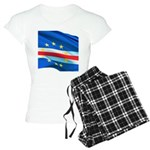 Cape Verde Flag Wave Women's Light Pajamas