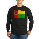 Cabo Verde History Flag Long Sleeve Dark T-Shirt