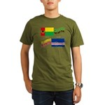 Cape Verde Flags Embrace Organic Men's T-Shirt