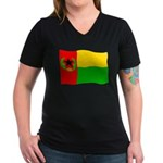 Cabo Verde History Flag Women's V-Neck T-Shirt