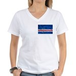 Cape Verde Flag Women's V-Neck T-Shirt