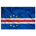 Cape Verde Flag Wave Large Poster