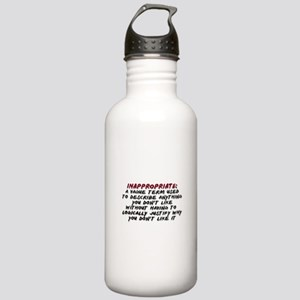 Inappropriate Definition Stainless Water Bottle 1.