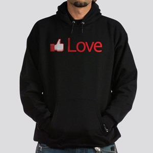 Love Button Hoodie (dark)