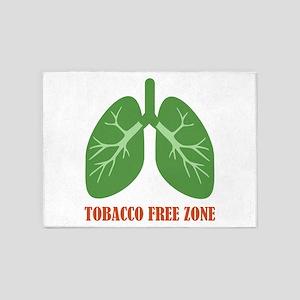 Tobacco Free Zone 5'x7'Area Rug
