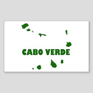 Cabo Verde Islands Sticker (Rectangle)