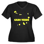 Cabo Verde I Women's Plus Size V-Neck Dark T-Shirt