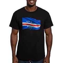 Cape Verde Flag Men's Fitted T-Shirt (dark)