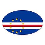 Cape Verde Flag Sticker (Oval 50 pk)