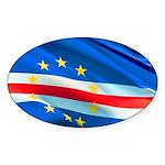 Cape Verde Flag Sticker (Oval)