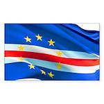 Cape Verde Flag Sticker (Rectangle 10 pk)