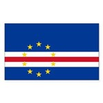 Cape Verde Flag Sticker (Rectangle 50 pk)