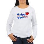 Cabo Verde Heart Women's Long Sleeve T-Shirt